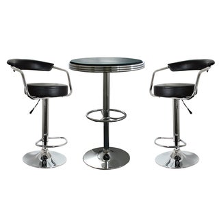 amerihome retro classic soda shop bistro set 3piece set