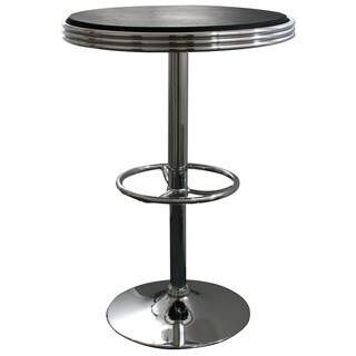 AmeriHome Black Retro Soda Shop Table