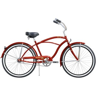 Micargi Tahiti 26-inch Men's Red & Black Rims Beach Cruiser