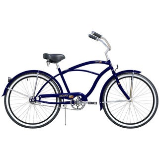 Micargi Tahiti 26-inch Men's Dark Blue & Black Rims Beach Cruiser