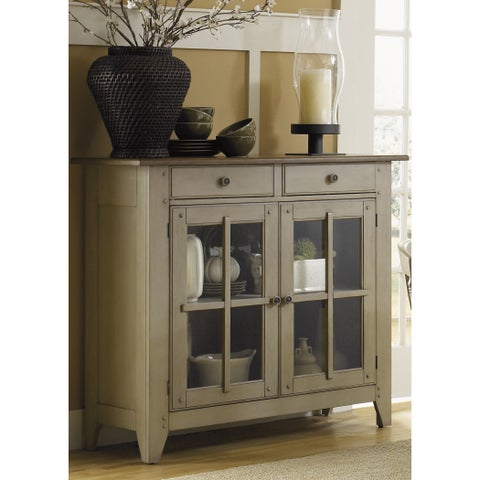 Fresco Taupe and Wood Transitional Server