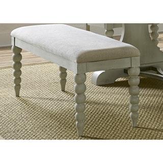 Cottage Harbor Dove Grey Linen Upholstered Dining Bench