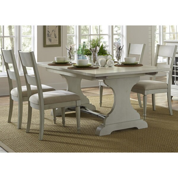 Cottage Dining Room Sets: Shop Cottage Harbor Dove Grey Trestle Dinette Table