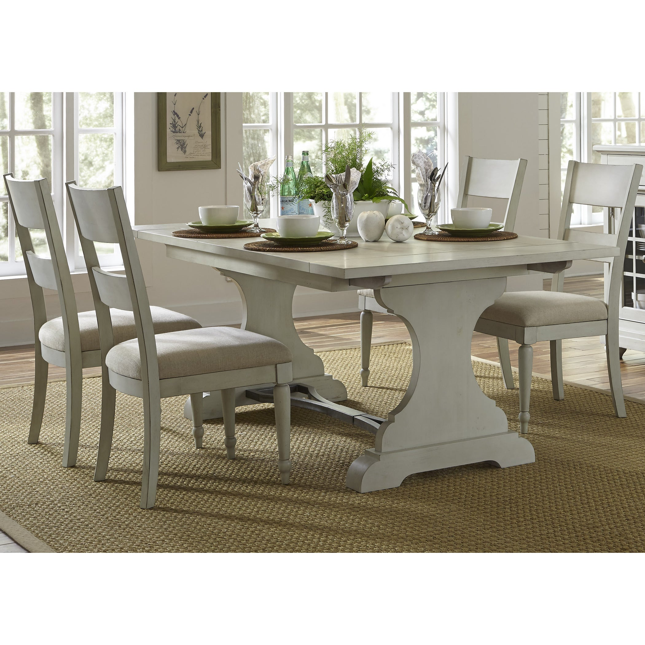 Liberty Cottage Harbor Dove Grey Trestle Dinette Table