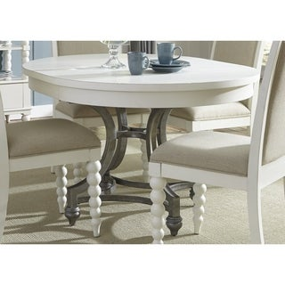 Cottage Harbor White Round Dinette Table