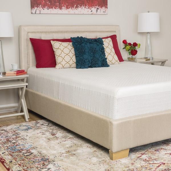 Comfort Memories Select a Firmness 12-inch California King-size Hybrid Mattress - White