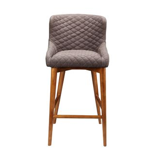 Aurelle Home Nordic Mid Century Modern Brown Counter Stool