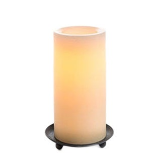 Ombré Rustic Finish Wax Pillar. Tan