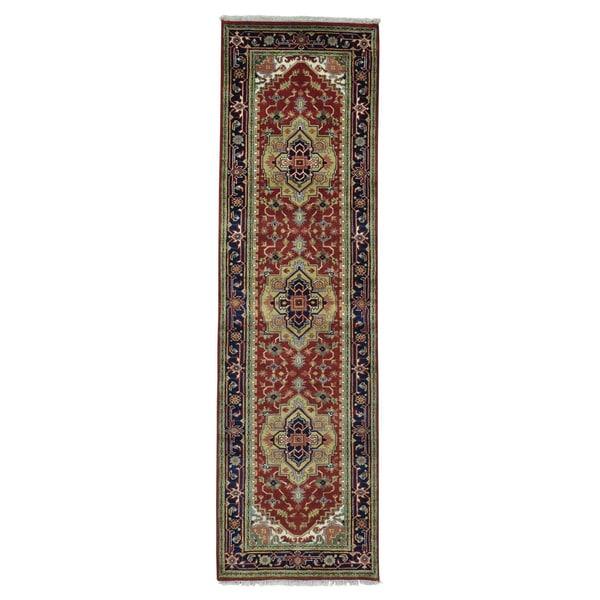 Runner Pure Wool Serapi Heriz Handmade Oriental Rug (3' x 10')