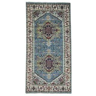 Handmade Pure Wool Gallery Size Serapi Heriz Oriental Rug (6'1 x 12')