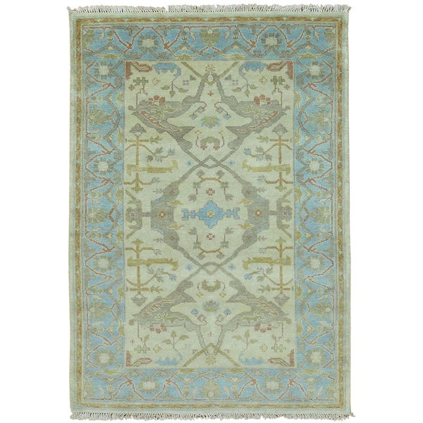 Shop Handmade Wool Washed-out Oushak Oriental Area Rug (4