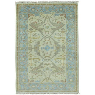 Handmade Wool Washed-out Oushak Oriental Area Rug (4'2 x 6')