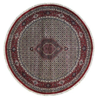 Round Bidjar Mahi Dense Weave 300 kpsi Oriental Rug (8' x 8'1)