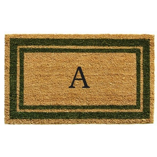 Sage Green Border Monogram Doormat (1'6 x 2'6)