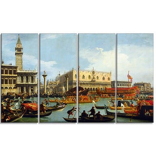Design Art 'Canaletto - Bucentaur's Return to the Pier'  Canvas Art Print