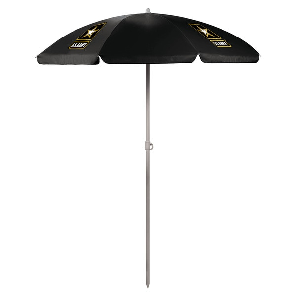 Picnic Time U.S. Army Black Umbrella