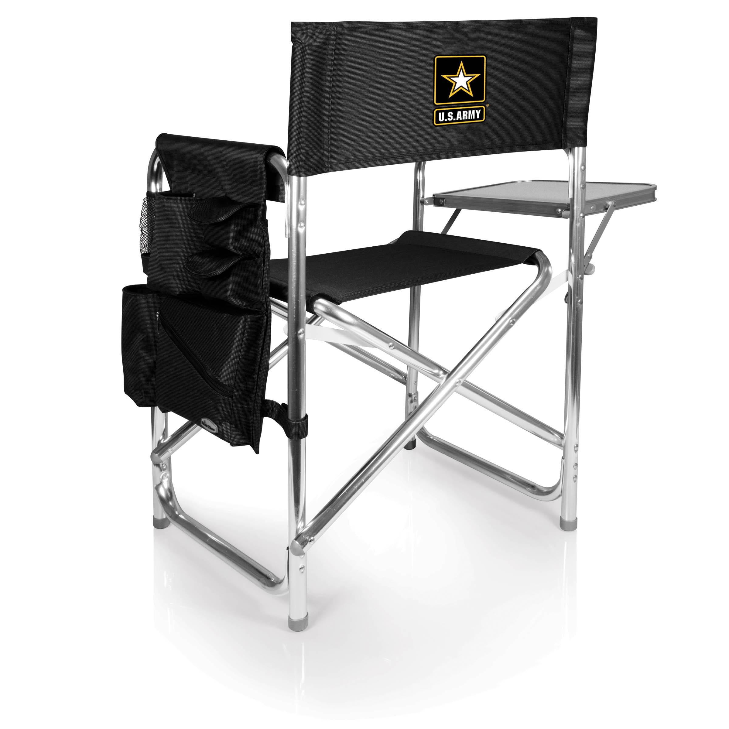 Oniva Picnic Time U.S. Army Black Sports Chair (Picnic Time)