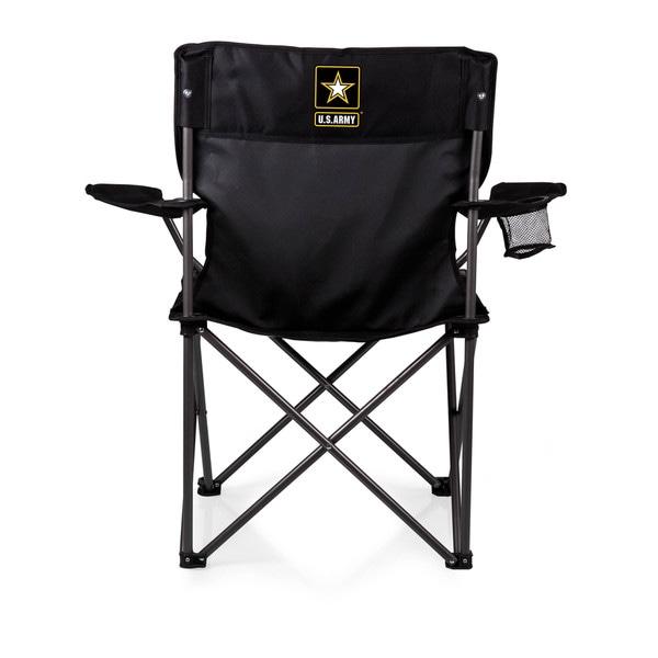Picnic Time Black U.S. Army PTZ Chair