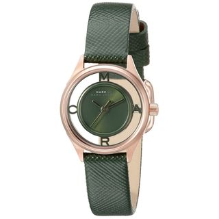 Marc Jacobs Women's MBM1383 'Thether' Green Leather Watch