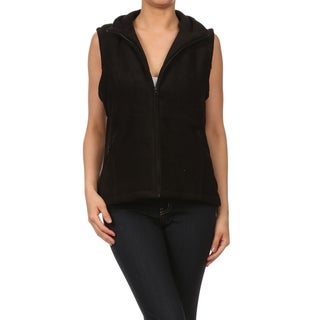 Collared Polar Fleece Vest with Pockets