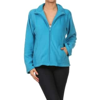 Blue Collared Polar Fleece Jacket with Pockets|https://ak1.ostkcdn.com/images/products/10645023/P17712290.jpg?impolicy=medium
