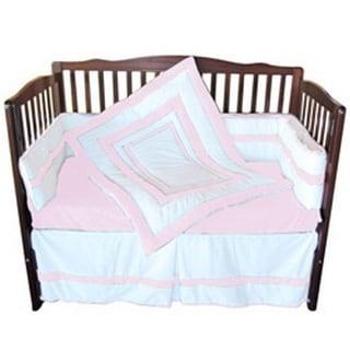 Bumper Neutral Double Hotel Crib Bedding (Pink/White) (Co...
