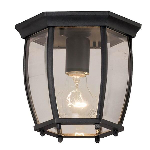 outdoor flush mount light fixtures aztec lighting traditional black outdoor flush mount light shop