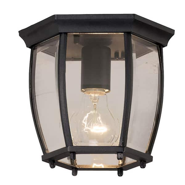 Light Black Outdoor Flush Mount