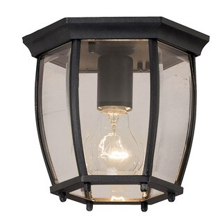Aztec Lighting Traditional Black Outdoor Flush Mount Light
