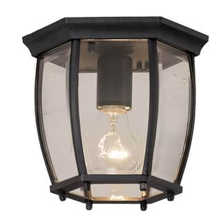 Traditional outdoor lighting for less overstock aztec lighting traditional black outdoor flush mount light aloadofball Gallery
