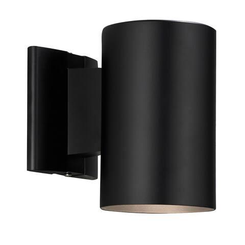 Contemporary 1-light Black Outdoor Wall Light