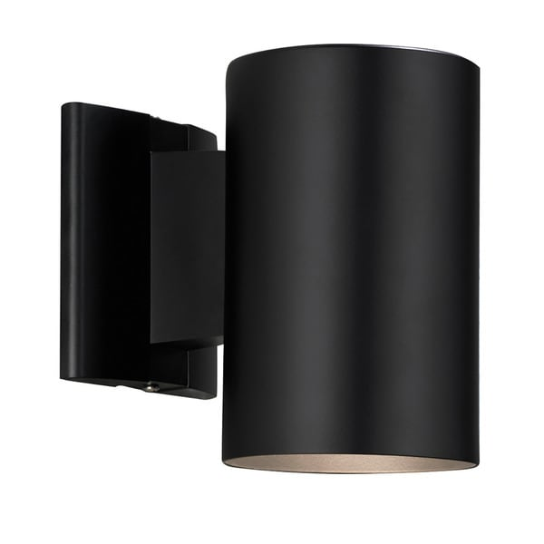Shop contemporary 1 light black outdoor wall light on sale free shipping on orders over 45 for Contemporary exterior wall lights