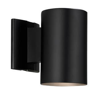 Contemporary 1-light Black Outdoor Wall Light