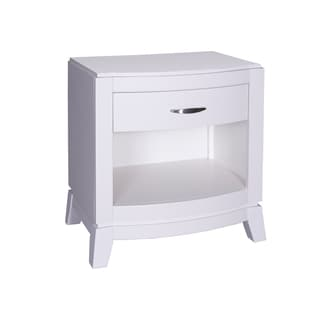 Avalon II White Truffle Nightstand