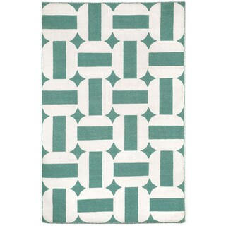 Stripe In Circle Outdoor Rug (3'6 x 5'6)