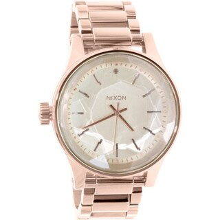 Nixon Women's Facet A384897 Rose Goldtone Stainless Steel Quartz Watch