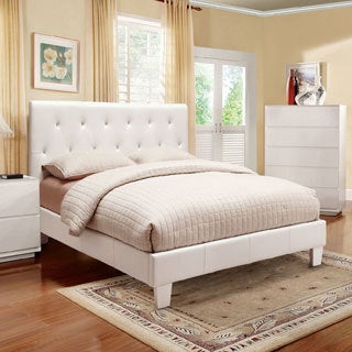 Furniture of America Mircella Tufted Leatherette Platform Bed