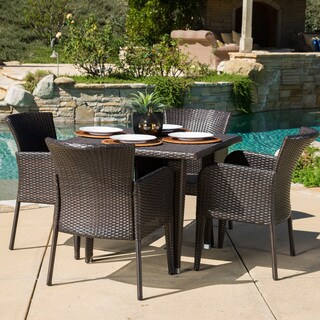Anaya Outdoor 5-piece Wicker Dining Set by Christopher Knight Home