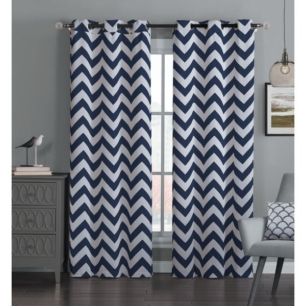 Avondale Manor Blackout Chevron Curtain Panel (Pair)   Free Shipping On  Orders Over $45   Overstock.com   17714134