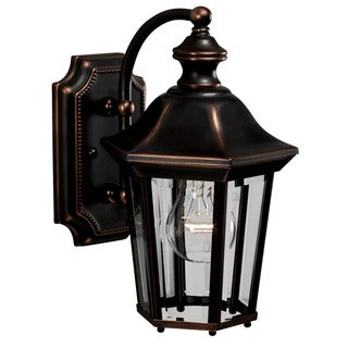 Traditional 1-light Olde Copper Outdoor Wall Lantern