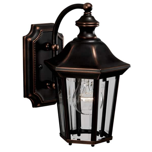 Traditional 1 Light Olde Copper Outdoor Wall Lantern