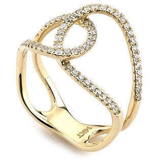 Neda Behnam Designer 14k Gold 3/8ct TDW Diamond Fashion Infinity Ring