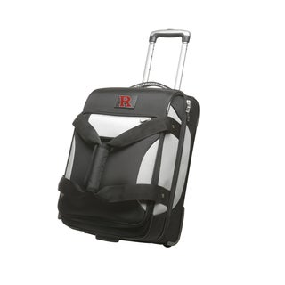 Denco Sports Cooperstown NCAA Rutgers Scarlet Knights 22-inch Carry On Drop Bottom Upright Duffel Bag