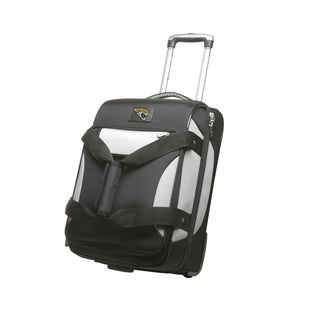 Denco Sports Cooperstown NFL Jacksonville Jaguars 22-inch Carry On Drop Bottom Upright Duffel Bag