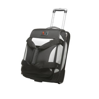 Denco Sports Cooperstown NCAA Miami Hurricanes 22-inch Carry On Drop Bottom Upright Duffel Bag