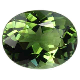 Oval-cut 7x9mm Green Tourmaline
