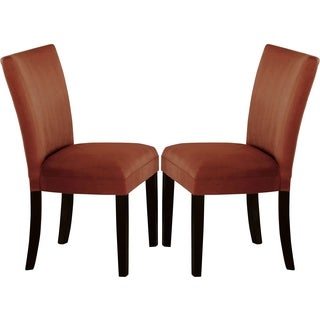 Sapphire Contemporary Microfiber Terracotta Parson Chairs (Set of 2)