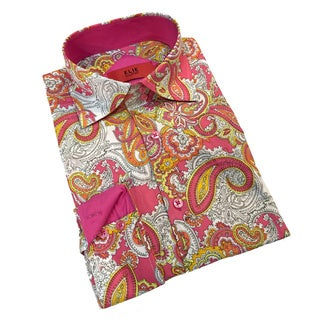 Elie Balleh Boys' Milano Italy 2015 Paisley Slim Fit Shirt (More options available)