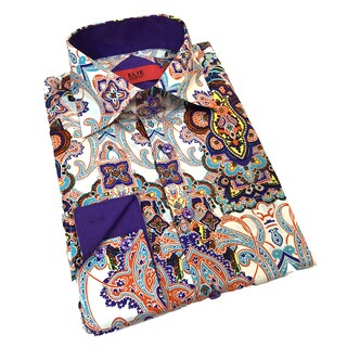 Elie Balleh Boy's 'Milano Italy 2015' Multicolor Paisley Slim Fit Shirt (More options available)