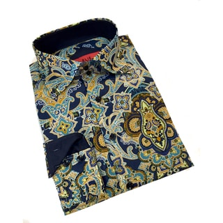 Elie Balleh Boy's 'Milano Italy 2015' Multicolor Paisley Slim Fit Shirt